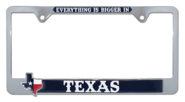 Bigger in Texas License Plate Frame
