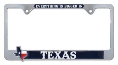 Bigger in Texas License Plate Frame