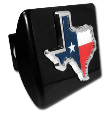 State of Texas Flag Emblem on Black Hitch Cover image
