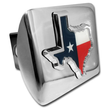 State of Texas Flag Emblem on Chrome Hitch Cover