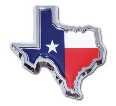 State of Texas Flag Chrome Emblem