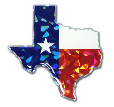 State of Texas Flag 3D Reflective Decal image