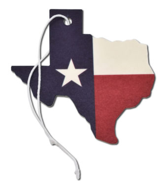 Leather Texas Flag Air Freshener 2 Pack