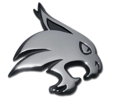 Texas State University Bobcat Chrome Emblem image