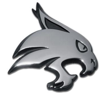 Texas State University Bobcat Chrome Emblem