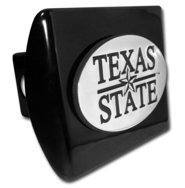 Texas State University Emblem on Black Hitch Cover