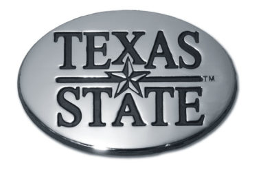Texas State University Chrome Emblem