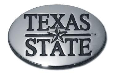 Texas State University Chrome Emblem