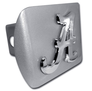 Alabama A on Brushed Hitch Cover