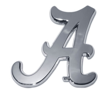 Alabama A Chrome Emblem