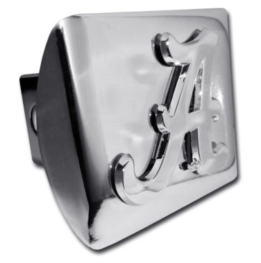 Alabama A on Chrome Hitch Cover