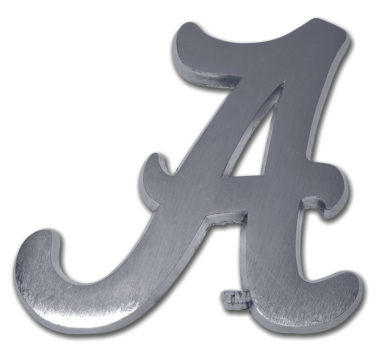 Alabama A Matte Chrome Emblem