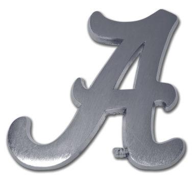 Alabama A Matte Chrome Emblem