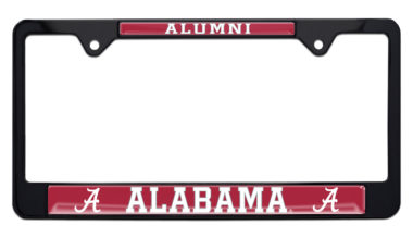 University of Alabama Alumni Black License Plate Frame