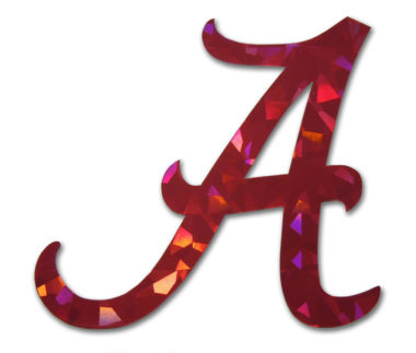 Alabama A Red Reflective Decal