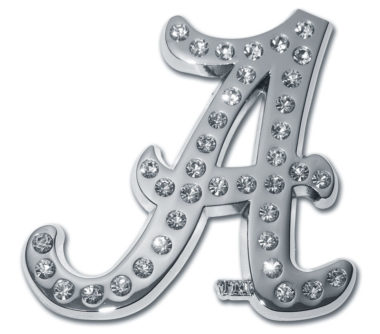 Alabama A Crystal Chrome Emblem