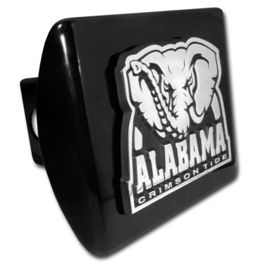 Alabama Crimson Tide on Black Hitch Cover