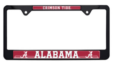 University of Alabama Crimson Tide Black License Plate Frame