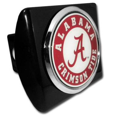 Alabama Crimson Tide Seal on Black Hitch Cover