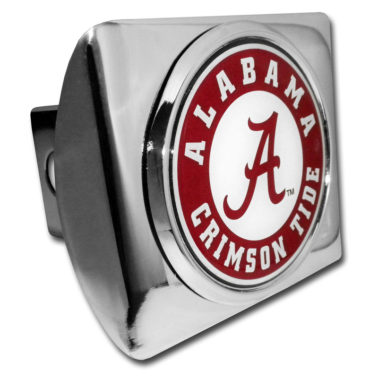 Alabama Crimson Tide Seal on Chrome Hitch Cover