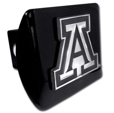Arizona A Emblem on Black Hitch Cover