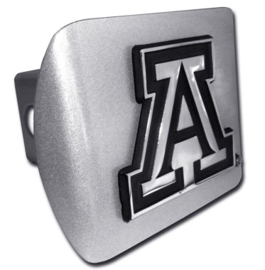 Arizona A Emblem on Brushed Hitch Cover