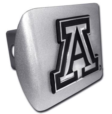 Arizona A Emblem on Brushed Hitch Cover