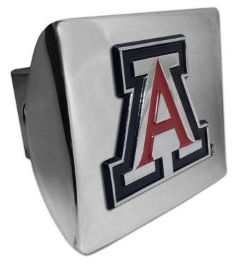 Arizona Emblem (w/ Color) on Chrome Hitch Cover