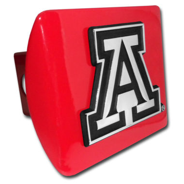 Arizona A Emblem on Red Hitch Cover