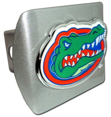 University of Florida Color Emblem on Brushed Hitch Cover