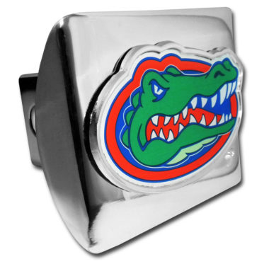 University of Florida Color Chrome Hitch Cover