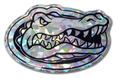 University of Florida Silver 3D Reflective Decal image