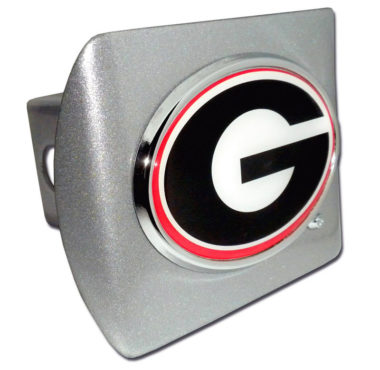 University of Georgia Color Emblem on Brushed Hitch Cover