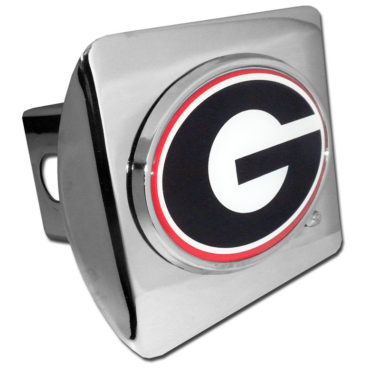 University of Georgia Color Emblem on Chrome Hitch Cover