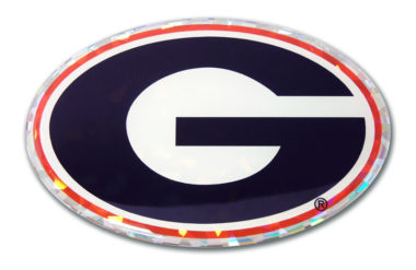 University of Georgia Color 3D Reflective Decal