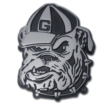 University of Georgia Bulldog Chrome Emblem
