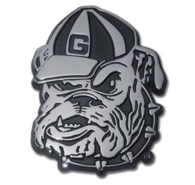 Georgia Bulldog Chrome Emblem