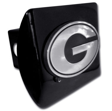 University of Georgia Emblem on Black Hitch Cover