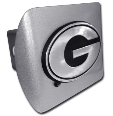 University of Georgia Emblem on Brushed Hitch Cover