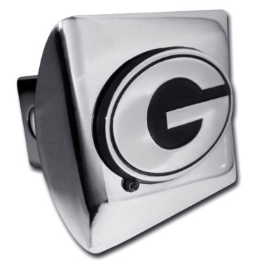 University of Georgia Emblem on Chrome Hitch Cover