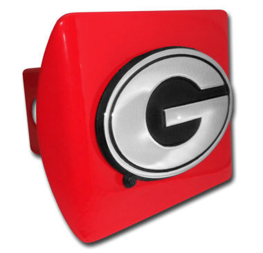 University of Georgia Emblem on Red Hitch Cover