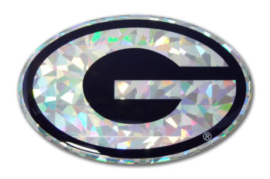 University of Georgia Silver 3D Reflective Decal