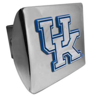 University of Kentucky Blue Emblem on Chrome Hitch Cover