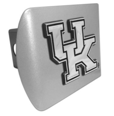 University of Kentucky Emblem on Brushed Hitch Cover