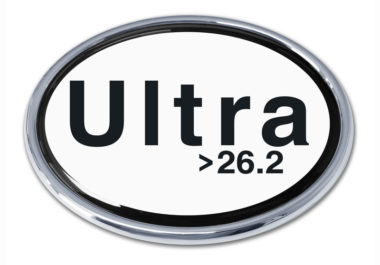Ultra Marathon 26.2 Chrome Emblem
