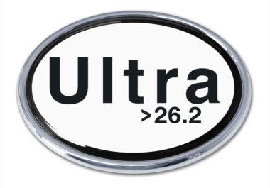 Ultra Marathon 26.2 Chrome Emblem