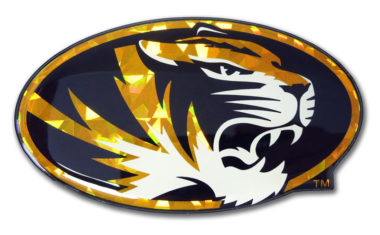 University of Missouri Tiger Yellow 3D Reflective Decal