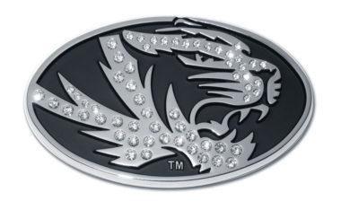 University of Missouri Tiger Crystal Chrome Emblem