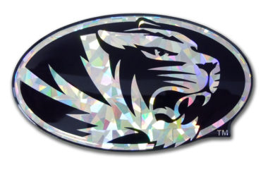 University of Missouri Tiger Silver 3D Reflective Decal image