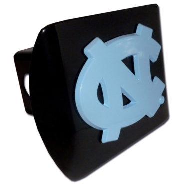 University of North Carolina Blue Emblem on Black Hitch Cover